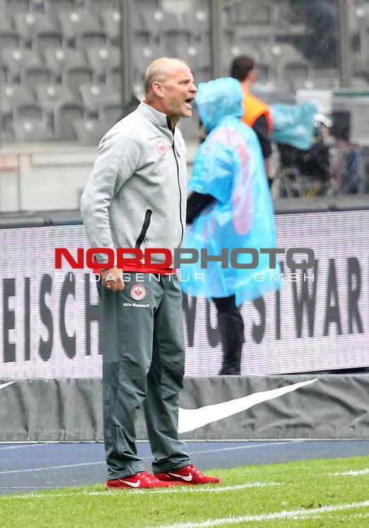 16.05.2015, OLympiastadion, Berlin, GER, 1.FBL, Hertha BSC vs. Eintracht Frankfurt, im Bild Cheftrainer,Thomas Schaaf (Eintracht Frankfurt)<br /> <br />               <br /> Foto &copy; nordphoto /  Engler