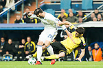 Real Madrid's Alvaro Morata Borussia Dortmund Sokratis Papastathoppulos during Champions League match between Real Madrid and Borussia Dortmund  at Santiago Bernabeu Stadium in Madrid , Spain. December 07, 2016. (ALTERPHOTOS/Rodrigo Jimenez)