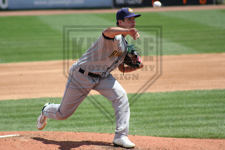 APPLETON - MAY 2011: Tyler Vail (18) of the Burlington Bees, Class-A affiliate of the Oakland A's, during a game on May 23, 2011 at Fox Cities Stadium in Appleton, Wisconsin. (Photo by Brad Krause) ........