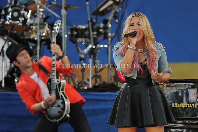 WWW.ACEPIXS.COM . . . . . .July 6, 2012...New York City....Demi Lovato performs on GMA in Central Park on July 6, 2012 in New York City. ....Please byline: KRISTIN CALLAHAN - WWW.ACEPIXS.COM.. . . . . . ..Ace Pictures, Inc: ..tel: (212) 243 8787 or (646) 769 0430..e-mail: info@acepixs.com..web: http://www.acepixs.com .