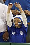26 March 2008: A young El Salvador fan. The El Salvador Men's National Team defeated the Anguilla Men's National Team 4-0 at RFK Stadium in Washington, DC in the second leg of their CONCACAF First Round FIFA World Cup Qualifier. El Salvador won the series 16-0 on aggregate goals, advancing to the next round and eliminating Anguilla.