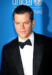 BEVERLY HILLS, CA. - December 10: Matt Damon attends the UNICEF Ball honoring Jerry Weintraub at The Beverly Wilshire Hotel on December 10, 2009 in Beverly Hills, California.