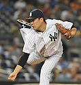 Masahiro Tanaka (Yankees),<br /> SEPTEMBER 8, 2015 - MLB :<br /> Masahiro Tanaka of the New York Yankees pitches during the Major League Baseball game against the Baltimore Orioles at Yankee Stadium in the Bronx, New York, United States. (Photo by AFLO)