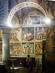 Frescoes, Duomo di San Gimignano, San Gimignano, Siena-Tuscano, Italy