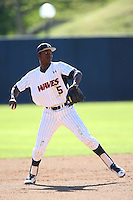 Manny Jefferson #5 of the Pepperdine Waves throws to first base during a game against the Tulane Green Wave at Eddy D. Field Stadium on March 13, 2015 in Malibu, California. Tulane defeated Pepperdine, 9-3. (Larry Goren/Four Seam Images)