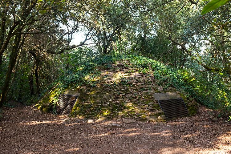 El pou de glaç - ice well. Created in 1706 by the Ubach / Obac family on a hill some 800m altitude in the Serra de l'Obac. Parc Natural de Sant Llorenç del Munt i l'Obac