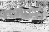 3/4 view of box car #3409 at Silverton.  Date of &quot;ALA 12 39&quot; stencilled on car makes the July, 1939 date questionable.<br /> D&amp;RGW  Silverton, CO  Taken by Best, Gerald M. - 7/3/1939