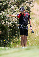 Charlie Smail of Waikato. Day One of the Toro Interprovincial Men's Championship, Mangawhai Golf Club, Mangawhai,  New Zealand. Tuesday 5 December 2017. Photo: Simon Watts/www.bwmedia.co.nz