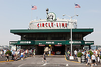 The Circle Line sightseeing cruise building on Pier 83 in New York City.