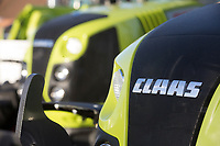 New Claas tractors at a show <br /> &copy;Tim Scrivener Photographer 07850 303986<br /> ....Covering Agriculture In The UK....
