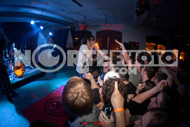 Foxy Shazam performing at The Loft in Lansing, Michigan on April 30, 2012. © Joe Gall / MediaPunch Inc.