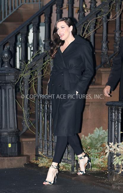 WWW.ACEPIXS.COM<br /> <br /> March 26 2015, New York City<br /> <br /> Actress Liv Tyler leaves her West Village brownstone on March 26 2015 in New York City<br /> <br /> <br /> By Line: Zelig Shaul/ACE Pictures<br /> <br /> <br /> ACE Pictures, Inc.<br /> tel: 646 769 0430<br /> Email: info@acepixs.com<br /> www.acepixs.com