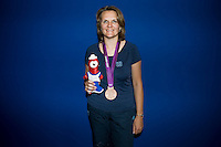 Delphine Reau Racinet (fra).London 04/08/2012 .London 2012 Olympic games  - French House - Olimpiadi Londra 2012 - Casa Francia - I medagliati.Foto JB Autissier / Panoramic / Insidefoto.ITALY ONLY..
