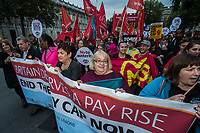 The British TUC organises a march and rally against the pay cap in central London from Downing street to Parliament square. 17-10-17