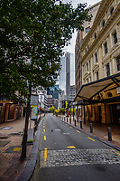 Wellington CBD during lockdown for the COVID19 pandemic in Wellington, New Zealand on Friday, 17 April 2020. Photo: Dave Lintott / lintottphoto.co.nz