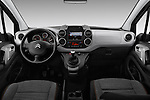 Stock photo of straight dashboard view of 2016 Citroen BERLINGO-MULTISPACE XTR+ 5 Door Mini MPV Dashboard