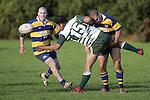B. Maloney tackles R. Koroi late in the game. Counties Manukau Premier Club Rugby, Patumahoe vs Manurewa played at Patumahoe on Saturday 6th May 2006. Patumahoe won 20 - 5.