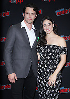 NEW YORK, NY - October 6:  Nathan Parson, Jeanine Mason  at New York Comic Con 2018 promoting The CW's  Roswell, New Mexico at the Jacob K. Javits Convention Center in New York City on October 06, 2018. <br /> CAP/MPI/RW<br /> &copy;RW/MPI/Capital Pictures