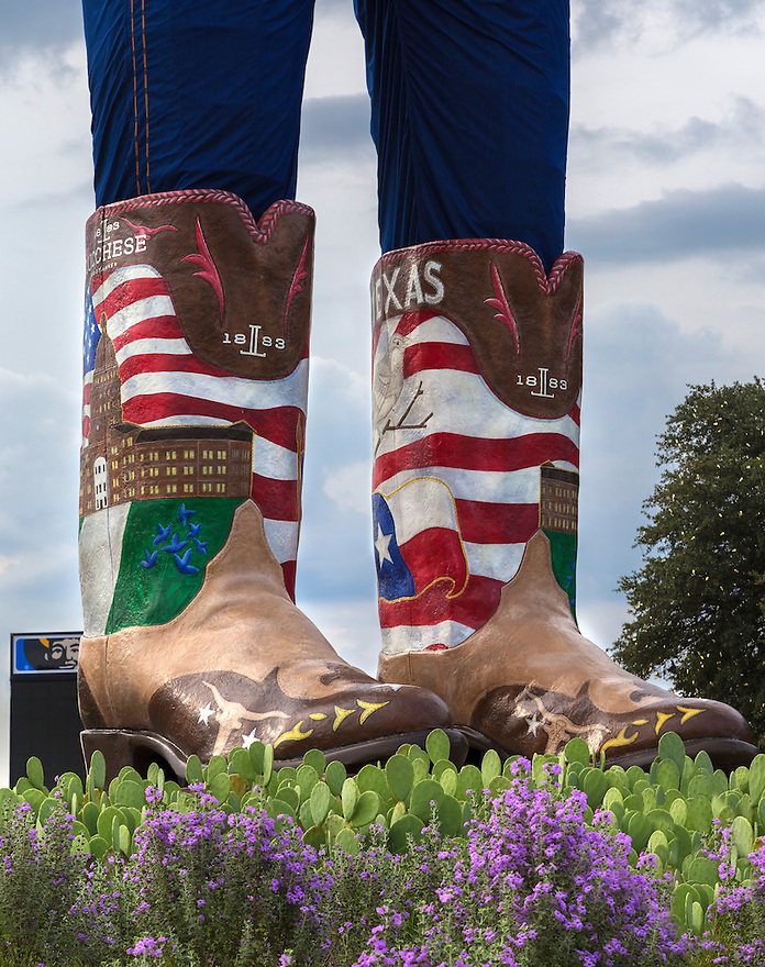 Big TEX is the iconic mascot at the state fair of Texas. he welcome the tourists during the fall event.