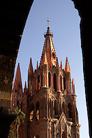 The Parish Church or Parroquia de San Miguel Arcangel in San Miguel de Allende, Mexico