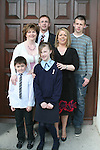 Shauna Parkinson and family at the Ballymakenny NS Confirmation..Photo NEWSFILE/Jenny Matthews.(Photo credit should read Jenny Matthews/NEWSFILE)....This Picture has been sent you under the condtions enclosed by:.Newsfile Ltd..The Studio,.Millmount Abbey,.Drogheda,.Co Meath..Ireland..Tel: +353(0)41-9871240.Fax: +353(0)41-9871260.GSM: +353(0)86-2500958.email: pictures@newsfile.ie.www.newsfile.ie.FTP: 193.120.102.198.