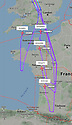 14/03/20<br /> <br /> A FlightRadar24 map shows seven Jet2 aircraft who have turned around mid-flight, after the airline cancels all flights to Spain. <br /> <br /> All Rights Reserved: F Stop Press Ltd.  <br /> +44 (0)7765 242650 www.fstoppress.com