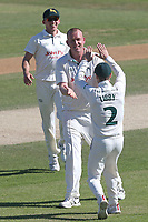 Luke Fletcher of Notts celebrates taking the wicket of Tom Westley during Essex CCC vs Nottinghamshire CCC, Specsavers County Championship Division 1 Cricket at The Cloudfm County Ground on 22nd June 2018