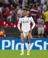 A disappointed Dele Alli of Tottenham Hotspur during the UEFA Champions League Group stage match between Tottenham Hotspur and Monaco at White Hart Lane, London, England on 14 September 2016. Photo by Andy Rowland.