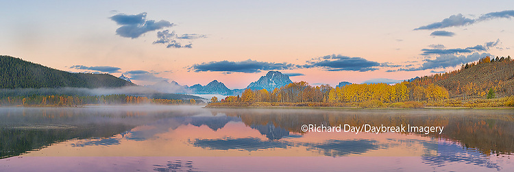67545-08813 Sunrise at Oxbow Bend in fall, Grand Teton National Park, WY