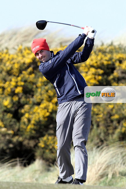 Liam Hutchinson (Galgorm Castle) on the 7th tee during Round 2 of the West of Ireland Amateur Open Golf Championship 2013 at Co.Sligo Golf Club, Rosses Point, Co.Sligo. 30/03/2013...(Photo Jenny Matthews/www.golffile.ie)