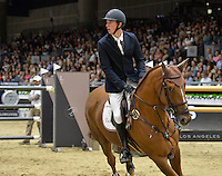 Jos Verlooy (Belgium), riding Sunshine at the Gucci Gold Cup International Jumping competition at the 2015 Longines Masters Los Angeles at the L.A. Convention Centre.<br /> October 3, 2015  Los Angeles, CA<br /> Picture: Paul Smith / Featureflash