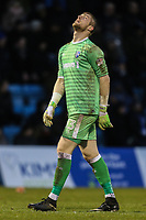 Goalkeeper Tomas Holy of Gillingham during the Sky Bet League 1 match between Gillingham and Fleetwood Town at the MEMS Priestfield Stadium, Gillingham, England on 27 January 2018. Photo by David Horn.