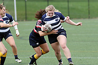 Penn State women's rugby Kira Garnett against Washington DC Furies women's rugby on April 22, 2017.  Penn State won 60-10. Photo/©2017 Craig Houtz