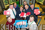 IN THE BAG: Tralee Post Office staff handling the final Christmas mail. Front l-r: Gerry Lenihan, Billy O'Sullivan. Back l-r: Iarlaith O Si?ochru?, John White, Mary Byrne, Denis O'Sullivan, Michael O'Callaghan and Martin O'Regan.   Copyright Kerry's Eye 2008