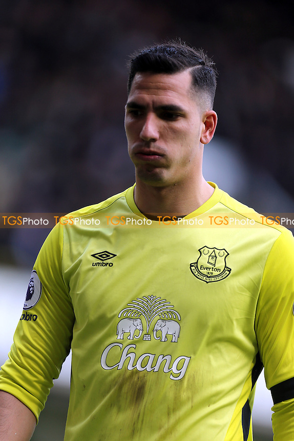 Joel Robles of Everton during Tottenham Hotspur vs Everton, Premier League Football at White Hart Lane on 5th March 2017