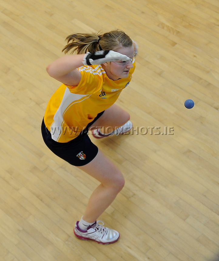 21st March 2015; GAA Handball 40x20 All-Ireland Ladies Open Senior Singles Final<br /> Aisling Reilly (Antrim) vs Catriona Casey (Cork).<br /> Aisling Reilly, Antrim.<br /> Grealy/actionshots.ie.