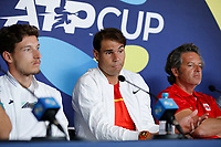 2nd January 2020; RAC Arena , Perth, Western Australia, Australia; ATP Cup Team Press conferences, Spain; Rafael Nadal of Spain speaks to the press  during the team press conferences - Editorial Use