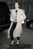 APR 05 Amanda Peet Seen Leaving SiriusXM Studios