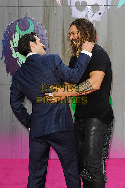 LONDON, ENGLAND - AUGUST 3: Henry Cavill and Jason Momoa attending the 'Suicide Squad' European Premiere at Odeon Cinema, Leicester Square on August 3, 2016 in London, England.<br /> CAP/MAR<br /> &copy;MAR/Capital Pictures