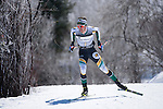 10 MAR 2016:  Ian Torchia (1) of Northern Michigan University competes in the 10K skate during the NCAA Division I Men's and Women's Skiing Championships take place at Howelsen Hill Ski Area in Steamboat Springs, CO.    Torchia placed second in the event.  Jamie Schwaberow/NCAA Photos