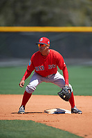 Boston Red Sox Jeremy Rivera (11) during practice before a minor league Spring Training game against the Tampa Bay Rays on March 23, 2016 at Charlotte Sports Park in Port Charlotte, Florida.  (Mike Janes/Four Seam Images)