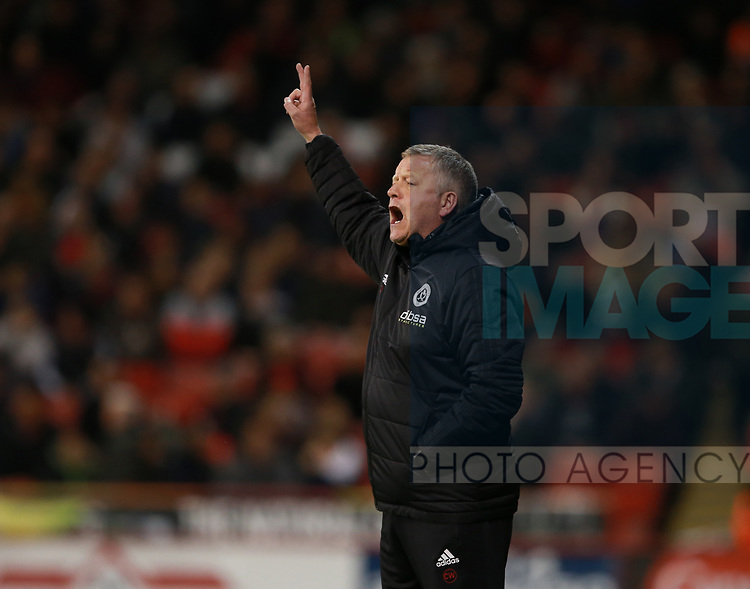 Chris Wilder manager of Sheffield Utd during the Championship match at Bramall Lane Stadium, Sheffield. Picture date 21st November 2017. Picture credit should read: Simon Bellis/Sportimage