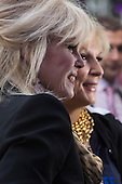 London, UK. 29 June 2016. Joanna Lumley (Patsy Stone) and Jennifer Saunders (Edina Monsoon). World premiere of Absolutely Fabulous - the Movie in London's Leicester Square.
