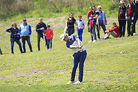 Nacho Elvira (ESP) on the 1st fairway during Round 3 of the Open de Espana 2018 at Centro Nacional de Golf on Saturday 14th April 2018.<br /> Picture:  Thos Caffrey / www.golffile.ie<br /> <br /> All photo usage must carry mandatory copyright credit (&copy; Golffile | Thos Caffrey)