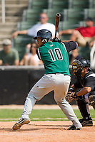 Augusta catcher Henry Gutierrez (10) at bat versus Kannapolis at Fieldcrest Cannon Stadium in Kannapolis, NC, Monday, September 3, 2007.