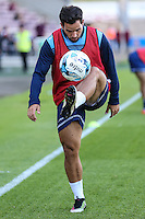 Sam Wood of Wycombe Wanderers warms up ahead of The Checkatrade Trophy match between Northampton Town and Wycombe Wanderers at Sixfields Stadium, Northampton, England on 30 August 2016. Photo by David Horn / PRiME Media Images.