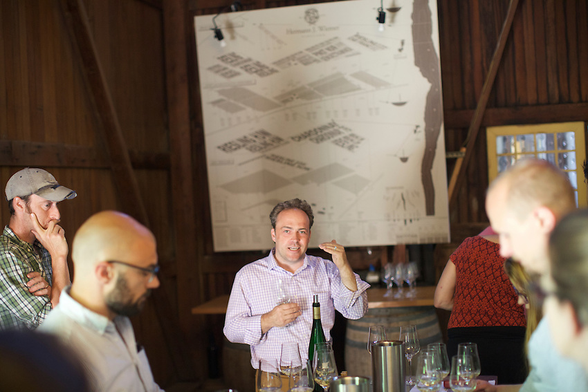 Dundee, NY - June 21, 2016: The New York Wine and Grape Foundation bring New York City sommeliers and wine buyers to the Finger Lakes region as part of its NY Drinks NY program.<br /> <br /> CREDIT: Clay Williams.<br /> <br /> &copy; Clay Williams / claywilliamsphoto.com