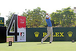 Padraig Harrington teeing off on the 4th.on day one of the Dubai World Championship on the Earth Course at the Jumeirah Golf Estate, Dubai..Picture Fran Caffrey/www.golffile.ie.