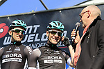 Sam Bennett (IRL) Bora-Hansgrohe on stage at sign on for Gent-Wevelgem in Flanders Fields 2017, running 249km from Denieze to Wevelgem, Flanders, Belgium. 26th March 2017.<br /> Picture: Eoin Clarke | Cyclefile<br /> <br /> <br /> All photos usage must carry mandatory copyright credit (&copy; Cyclefile | Eoin Clarke)
