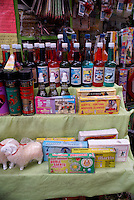 Remedies and magical potions for sale in the market, city of Veracruz, Mexico